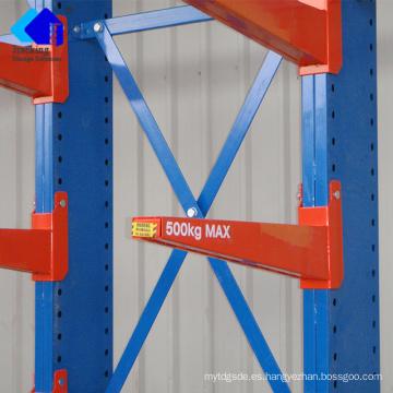 Jracking Heavy Duty Sistema de estantería de almacenamiento en voladizo Uso en interiores