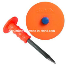 16*250 Flat Stone Chisel with Rubber Grip (BR2325)