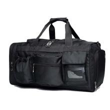 High Quality Custom Logo Popular Outdoor Black Fitness Big Sports Gym Travel Bag