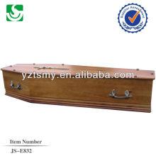 Cruz de metal e alças para o caixão de noz profissional