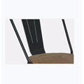 Muebles de comedor de metal tipo silla de comedor moderna