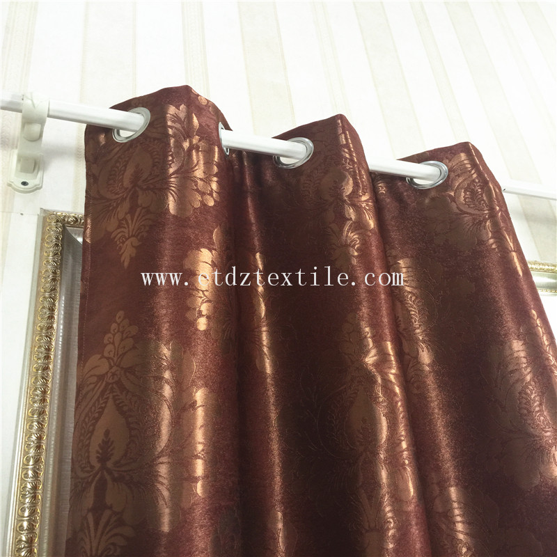 BROWN COLOR CURTAIN BLACKOUT FABRIC
