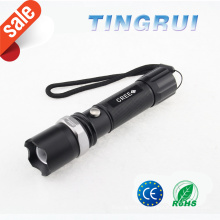 Light Flash Zoom Power Style Led Flashlight