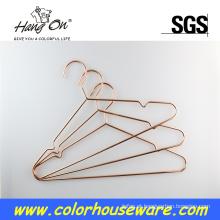 Cabide de metal ouro rosa de cabo elétrico