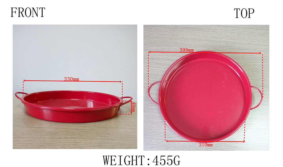 tin tray with handle