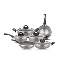 Marble Coating Auminum Antikleeflaag Cookware Set