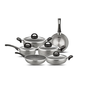 Marble Coating Auminum Non-stick Coating Cookware Set