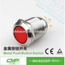 22mm CMP stainless steel momentary or latching waterproof SPST or DPDT electrical push button switch 120v