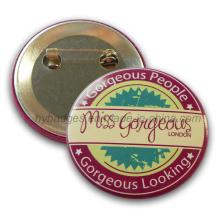 Badge impressão, crachá de estanho botão personalizado (GZHY-MKT-019)