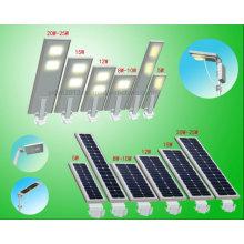 2016 nouveau produit extérieur IP65 imperméable tout dans une lampe de réverbère solaire LED sans capteur