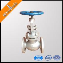 Válvula de globo ANSI WCB A216 manivela de globo
