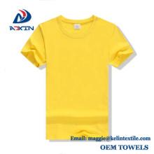 Kundenspezifisches Entwurfs-100% Baumwolllogo, das normale weiße T-Shirts für Männer / Wemen druckt