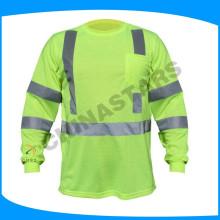 100% algodón hola camiseta de la visión camisetas suaves de la alta visibilidad hola camisetas de la visión para los hombres