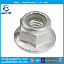 DIN6926 zinc plated carbon steel nylon flange nut