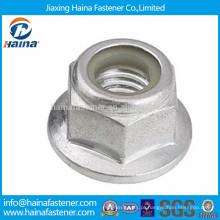 DIN6926 zinco chapeado de aço carbono nobre flange porca