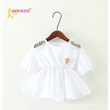 2014 Autumn Baby girl's Knit dress clothes Customized White and Green color