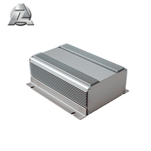 boîtier électronique de boîtier d'extrusion en aluminium anodisé argent