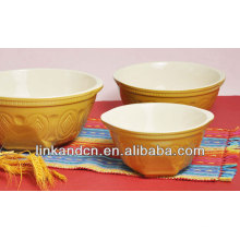 Tazón de fuente de esmalte / tazón de porcelana / tazón de cerámica