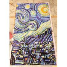 Фоновая дизайн Мозаика, Стеклянный узор Мозаичная настенная плитка (HMP886)