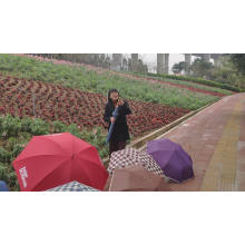 Big size lady and gentle man favorite personal customized high quality red golf umbrella with logo prints