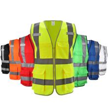 Factory wholesale high visibility class2 pocket reflective safety vest