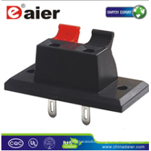 Daier WP2-3 L=34.9mm 2P Red& Black Clip Wire Terminal Connector