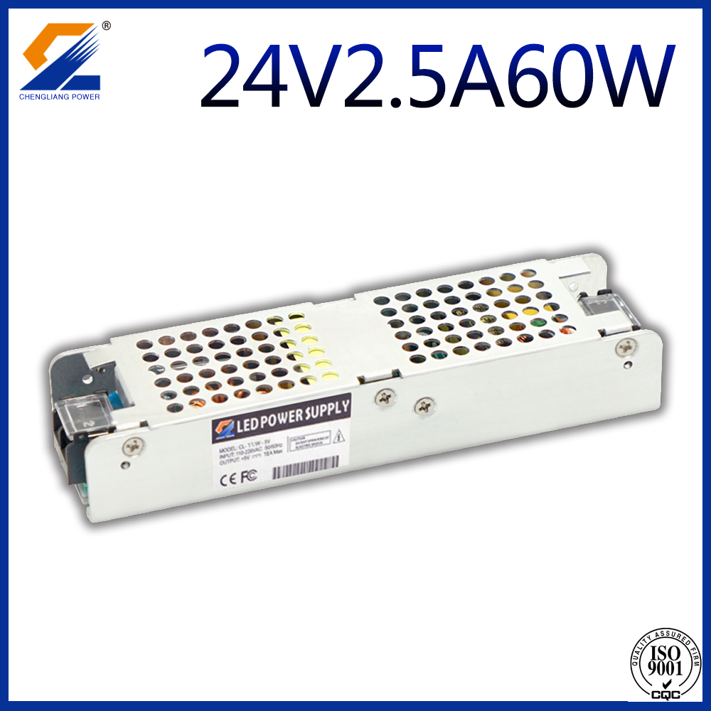 24V 2.5A 60W Slim LED-drivrutin