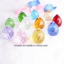 Perle de verre de cristal coloré pour lustre