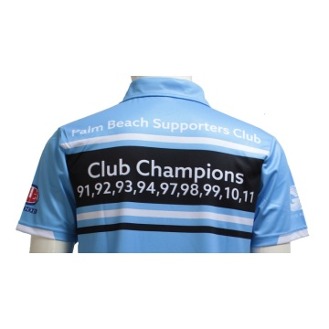 Custom Club Sublimated Pas Cher Polos Bleu