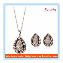 A jóia do estilo do vintage da chegada China nova ajusta o necklace eo brinco do yiwi