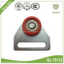 Rouleau de suspension pour filet de rideau avec roue conique rouge