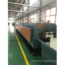 Net belt type hot air cycle tempering furnace