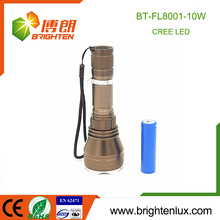 Factory Outlet 3.7V 1*18650 Battery Powered Aluminium Multi-functional 10w Cree led Rechargeable Torch Light Long Distance