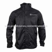 Men's Waterproof Jacket, Customized Logos, Colors, Designs and Sizes Accepted