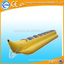 Barco inflable de banana de alta calidad, barco inflable divertido / barco inflable barato