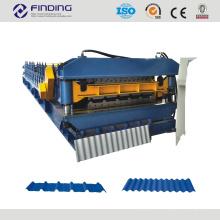 techo corrugado rollo formando equipo / metal ruedan formando la máquina formadora de rollos de máquina de frío