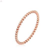 Nuevos anillos del diseño de la forma de la cuerda del oro rosado de la llegada de la llegada