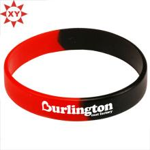 Schwarze und rote Silikon-Armband-Größe für Erwachsene