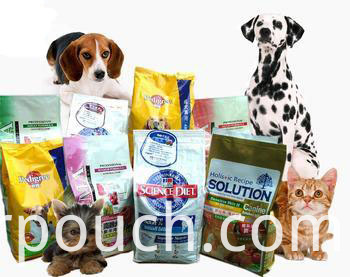 Pet food quad seal bag
