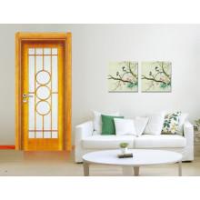 puerta de entrada de madera maciza de alta calidad
