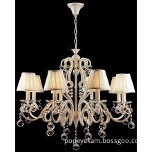 Hotel Crystal Chandelier Decorative Light (CL 5463/8 YW+WT)