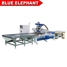 Blue Elephant New Production Line CNC Router Wood Working Automatic Loading and Unloading Nesting Machine