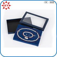 Boîte de collier de perle transparente personnalisée de mode
