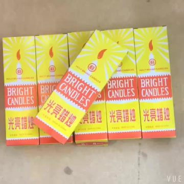 8PCS Yellow Box 38G Avorio Candela bianca