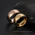 Высокое Качество Группа Золотое Кольцо Ювелирные Изделия, Модные Полированной Карбида Вольфрама Кольца