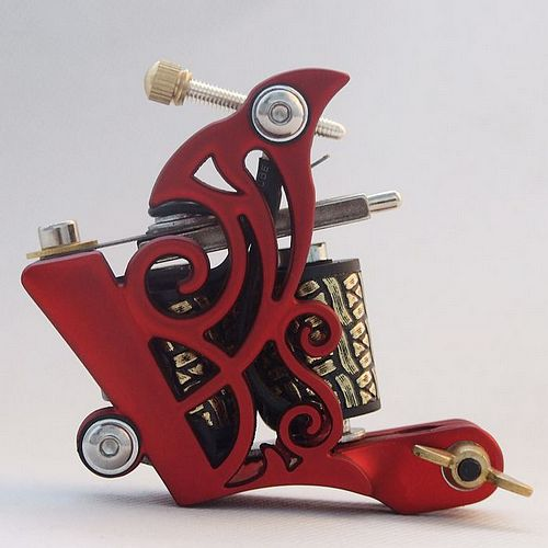 red butteryfly tattoo machine