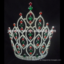 Alibaba Heiße Verkaufs-hohe große große Festzug-Kristallrunde Tiara-Krone