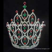 Alibaba Hot Sale Tall Big Bigant Crystal Round Tiara Crown