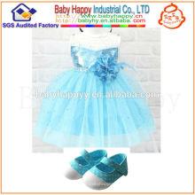 Descuento del fabricante 2012 nuevo vestido del bebé de la manera del diseño