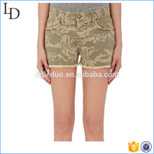 Camouflage Cutoff print shorts hot pants denim short for lady